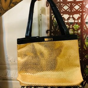 Gold and Black Tote Bag